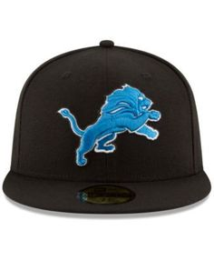 217ee14eb New Era Detroit Lions Team Basic 59FIFTY Fitted Cap - Black 6 7 8
