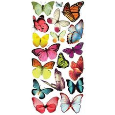 1 Sheet of Stickers Multi-Colored Butterflies
