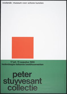 Wim Crouwel – Hedendaagse Italiaanse beeldhouwwerken. Peter Stuyvesant collectie – 1966