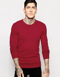 """Jumper by Sisley Pure wool knit Mid-weight design Crew neck Ribbed trims Regular fit - true to size Hand wash 100% Wool Our model wears a size Medium and is 185.5cm/6'1"""" tall"""
