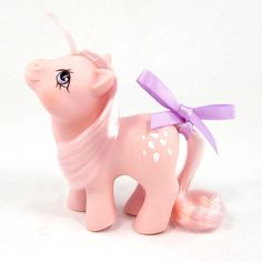 Vintage G1 Newborn My Little Pony  Baby Cotton Candy  Adorable!