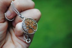 Tree of life   Amber resined pendant necklace with by argalleryart, $12.00