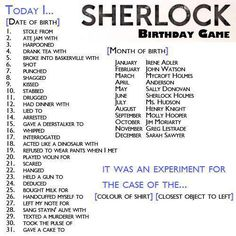 I drugged Moriarty (Ha!) It was an experiment for the case of the Blue Pillow.