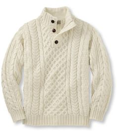Find the best Heritage Sweater, Irish Fisherman's Button-Mock at L. Our high quality Men's Sweaters, Sweatshirts and Fleece are thoughtfully designed and built to last season after season. Best Mens Sweaters, Mens Fashion Sweaters, Men Sweater, Winter Sweaters, Cozy Sweaters, Cable Knit Sweaters, Pullover Sweaters, Winter Hats, Outdoor Apparel