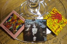 8 Todd Rundgren Album Cover Wine Charms for the Music/Wine Lover 'Your wine glasses deserve COOL Jewelry' Fast Ship FREE Desig. Driver Charm...