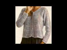 Como Tejer sweater dama con cuadros a crochet PARA EXPERTAS - YouTube