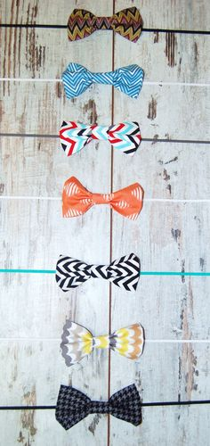 2 Pack Classic Collection Bow Tie or Headband- Ready 2 Ship - CHOOSE PRINT and Elastic -