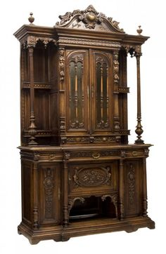 FRENCH RENAISSANCE REVIVAL FIGURAL SIDEBOARD 19THC