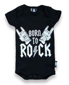 BABY ONESIE ROCKABILLY SIX BUNNIES GIRLS BOYS GIFT TATTOO BORN TO ROCK METAL