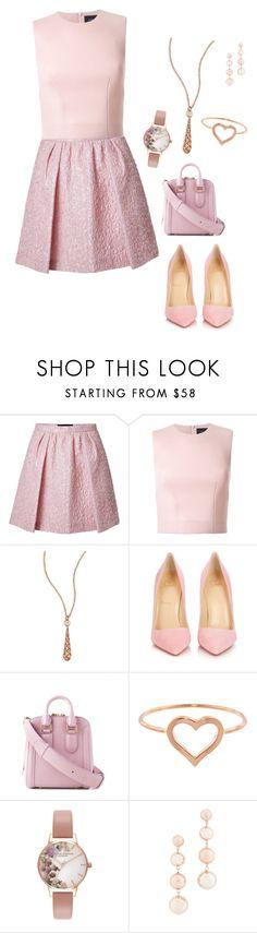 """""""Pink 🎀🎀🎀🎀🎀🎀🎀"""" by nasrmr ❤ liked on Polyvore featuring Giambattista Valli, Simone Rocha, Gucci, Christian Louboutin, Jennifer Meyer Jewelry, Olivia Burton and Rebecca Minkoff"""