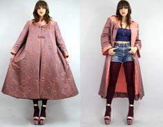 Vintage SILK Japanese QUILTED Coat  Vintage by TatiTatiVintage, $448.00