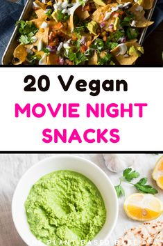 Try these mind blowing movie night snacks. They are so good healthy and easy. Vegan popcorn, vegan nachos, Vegan Cauliflower wings and avocado fries! Healthy Movie Snacks, Movie Night Snacks, Vegan Chicken Nuggets, Chicken Nugget Recipes, Vegan Queso, Vegan Nachos, Vegan Cauliflower Wings, Vegan Popcorn, Nuggets Recipe