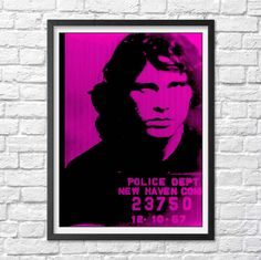 Jim Morrison poster Jim Morrison mugshot poster The Doors Poster  Cool poster Jim Morrison print Rock and Roll Poster Rock poster rock Print by Antiquephotoarchive on Etsy