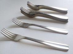12 Fourchettes en Plaqué Argent Service de par LaBelleEpoqueDeco