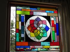 Brilliant color abounds in this stained glass window suncatcher for Juliana COLOR WHEELTASTIC
