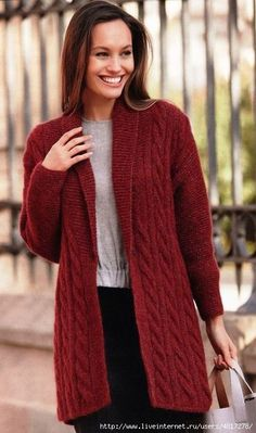 "Diy Crafts - Womens Cardigans – Tagged ""Cardigans"" – Page 5 – KnitWearMasters Crochet Cardigan Pattern, Sweater Knitting Patterns, Hand Knitting, Long Sweater Coat, Mohair Sweater, Knitted Coat, Sweater Fashion, Crochet Clothes, Cardigans For Women"
