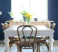 How To: Paint a dining table with oil based paint. Detailed Tutorial.  ahomefullofcolor