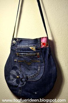 Bolsa redondeada jeans