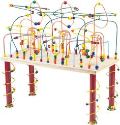 Toys With Beads On Wires | 23 Best Bead Maze Images On Pinterest Baby Toys Woodworking Toys