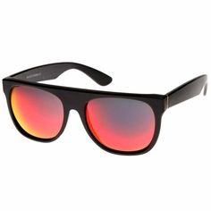 Retro Super Flat Top Revo Mirrored Lens Sunglasses 8090