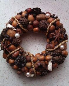 DIY Ideas for Fall Decorating, Chestnuts Home Decorations and Gifts - Karma Sprüche Handmade Christmas Decorations, New Years Decorations, Heart Decorations, Fall Crafts For Adults, Bathroom Designs Images, Fall Table Centerpieces, Summer Diy, Homemade Crafts, Fall Diy