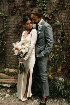 The stylish couple celebrated their love with a chic COVID-conscious ceremony at the venue they first met | Image by We Are The Bowsers Pantone Colour Palettes, Pantone Color, Elegant Ball Gowns, Stylish Couple, Romantic Lace, Bridal Style, Wedding Blog, Glamour