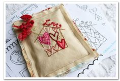 Lovely pincushion or sachet.....I love the stitching (my first craft ever was embroidery, making tea towels for my Grandma Jo.)