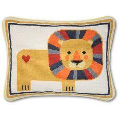 Jonathan Adler Junior Needlepoint Lion Pillow