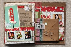 *December Daily - Two Peas in a Bucket Christmas Mini Albums, Christmas Scrapbook, Christmas Minis, Christmas Crafts, Paper Bag Scrapbook, Scrapbook Journal, Mini Scrapbook Albums, December Daily, December Challenge