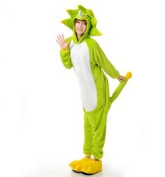 Monster onesie jumpsuit for adult flannel pajamas