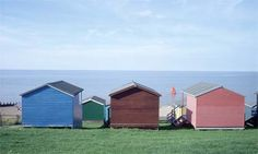 Forget the Hamptons. I'd rather go to Kent. A clapboard house, sea breezes and fresh oysters: there's a strong flavour of New England at this idyllic seaside retreat in Whitstable. Local colour ... candy coloured beach huts in Whitstable. Photograph: Carlos Dominguez/Corbis