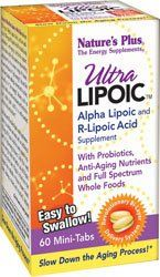 Ultra Lipoic Mini Tabs - 60 - Tablet by Nature's Plus. $20.00. Nature's Plus. Ultra Lipoic Mini-Tabs delivers 500 mg of Alpha Lipoic Acid, and an additional 100 mg of R-Lipoic Acid for total body antioxidant, anti-aging nutritional support. Ultra Lipoic Mini Tabs by Nature's Plus 60 Tablet Ultra Lipoic Bi-Layered Mini-Tabs Now in Mini-Tabs Natures Plus Ultra Lipoic Mini-Tabs delivers 500 mg of Alpha Lipoic Acid and an additional 100 mg of R-Lipoic Acid for total body an...