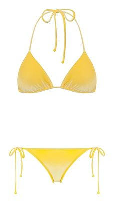 These are 11 It-Girl Swimsuit Brands You Need To Know About... Were in love with this yellow bikini from Triangl