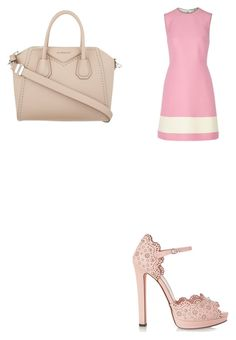 """Pink wednesday-Rose"" by meanbarbie ❤ liked on Polyvore featuring Fendi, Alexander McQueen and Givenchy"