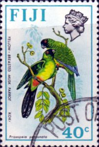 Postage Stamps Fiji 1971 Birds and Flowers Set Fine Used SG 445 Scott: 315 Other European and British Commonwealth Stamps HERE!