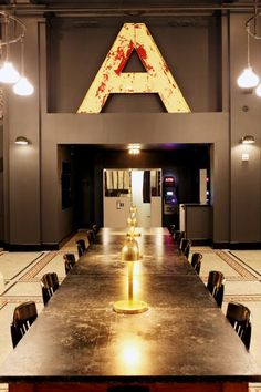 "Big vintage A (Interior) - Ace Hotel NYC. Find an ""L"" at flea"