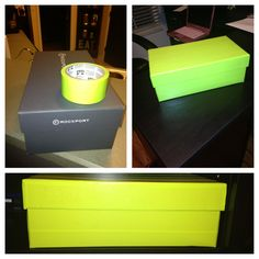 Pretty duct tape + shoebox = great storage!