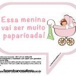 Plaquinhas Divertidas Chá de Bebê Menina 15