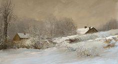 Winter Landscape, Tymoteusz Chliszcz on ArtStation at https://www.artstation.com/artwork/VX3vZ