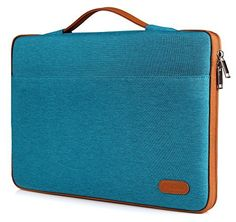 """ProCase 12 - 12.9 Inch Sleeve Cover Protective Bag for Surface Pro 4 3, Apple iPad Pro, Ultrabook laptop tablet Carrying Case Handbag for Macbook 12"""", 11"""" MacBook Air, Chromebook Pixel (Teal / Brown)"""