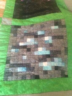 Diamond Ore, by Jennifer Rowles, free Minecraft pattern on fandominstitches.com