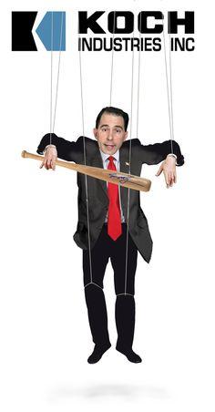 Scott Walker...another Republican Koch Bros. Puppet!