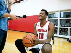Jaylen Johnson during University of Louisville Men's Basketball Media Day at the Yum! Practice Facility.