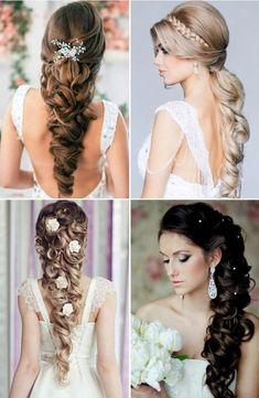 Amazing Latest and Beautiful Bridal Hairstyles for Long Hair – Western & Indian Bridal Hairstyles #Wedding #Beautiful