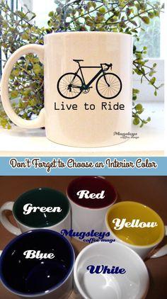 Bike Mug - Live to Ride Bicycle