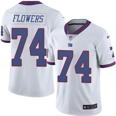 mens nike new york giants 74 ereck flowers limited white rush nfl jersey