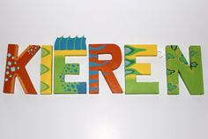Dinosaur Train Paper Mache Letters 6 LETTER by SugarLagoonParties