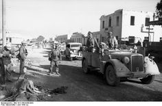 Generals Rommel and Bayerlein on their Horch staff car. Tobruk, North Africa 1942