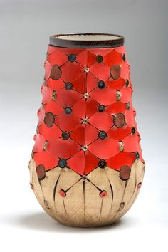 Once-off Udu Vase. The scarified collection is inspired by and ancient African tradition of body scarification. (The Old Biscuit Mill) Woodstock, Cape Town