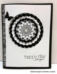Doily card - happy day